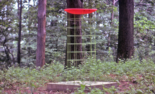 Ron Fischer_ 1978_Birdbath_plastic, metal, cement_5'tall